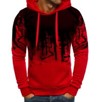 Stylish Mens Hooded Hoodies Sweatshirt  Winter Warm Pullover Tops Outwear