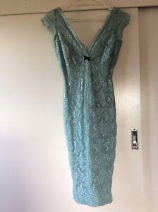 Wheels & Dollbaby Blue Malibu Lace Dress Sz. 10