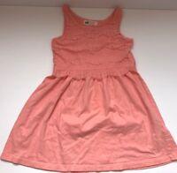 H&M Dress sz 4-6 Girls Toddler Lace peach cotton EUC Sleeveles