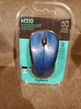 Logitech M310 Wireless Mouse for PC/Mac Peacock Blue