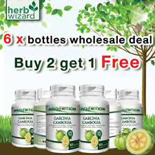 6 x Bottles 3000mg GARCINIA CAMBOGIA Capsules 95%HCA Best Weight Loss DIET Pill