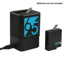 Dual Battery Charging Charger for GoPro HERO 5 6 7 USB-C/Type-C Cable Cord Black