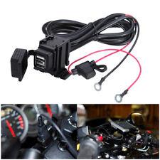 12v Waterproof Motorbike Motorcycle USB Charger Power Socket Adapter Outlet UK