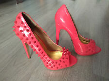 Stunning peep-toes in fuxia by BLINK platform high heels size 39