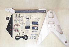HSFV 1909 Electric Guitar DIY Full Kit, V shape ,No-Soldering,Solid Body