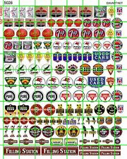 5026 DAVE'S DECALS HO ASSORTED SMALL SIGNS SODA GAS OIL FILLING STATION ADS