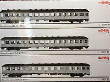 Märklin 1 Gauge 58341 Passenger Wagon Set Silberling NEW WITH ORIGINAL BOX