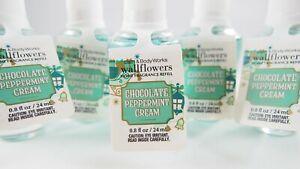 (5) Bath & Body Works Chocolate Peppermint Cream Wallflower Refill Bulb 0.8oz