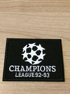 Patch Badge noir Olympique de Marseille OM champions league 92/93 vendeur pro