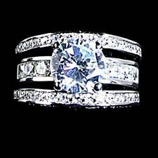 *BRILLIANT* ALL CLEAR CZ WEDDING SET (RING JACKET)_SZ-9__925 STERLING SILVER