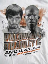 MANNY PAQUIAO Vs BRADLEY 2 T-SHIRT APRIL 12, 2014 LAS VEGAS - ADULT S