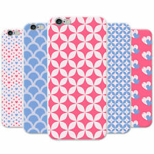 Blue & Red Heart & Diamond Patterns Hard Case Phone Cover for Apple Phones
