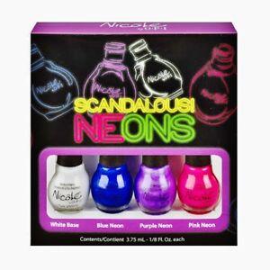 Nicole by OPI Nail Polish SCANDALOUS! Neons Minis Set of 4 Colors