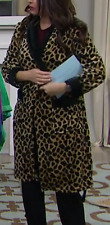 Soft & Cozy Robe with Contrast Trim, Leopard, Size 3X