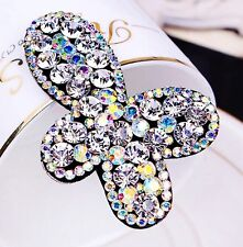 Quality Hair Clip Bobby Pin using Swarovski Crystal Hairpin Butterfly AB Clear
