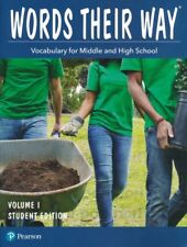 Words Their Way Vocabulary for Middle & High School Student Edition Volume 1