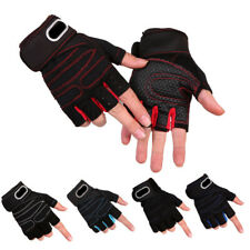 Cycling Half Finger Gloves Non-slip Shockproof Breathable Sporting Short Mittens