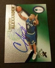 Courtney Alexander Mavericks Fresno 2001 Fleer Rookie Auto Signed Certified JN15