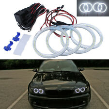 4Pcs SMD Angel Eyes Halo Rings DRL 6500K White For BMW E46 330Ci 325Ci Facelift