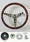 1964-1966 Buick Skylark GS Wood Steering Wheel High Gloss Grip 15