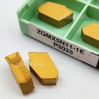 10pcs ZQMX5N11-1E = SP500 CNC carbide inserts lathe Cutting blade turning tools