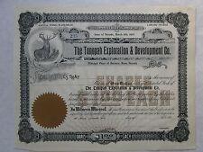 The Tonopah Exploration & Development Co.  1903  Nevada Corporation