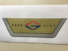 GLASTRON AQUA LIFT BOAT DECAL Gold And Silver