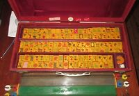 "Vintage ""Royal"" Mah Jongg Bakelite Trays Set 152 Tiles Locking Box NICE Mahjong"