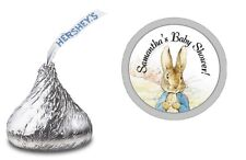 PETER RABBIT PERSONALIZED HERSHEY KISS STICKERS LABELS BABY SHOWER PARTY FAVORS