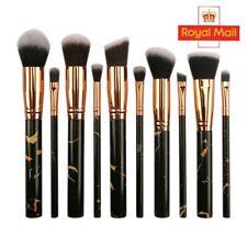 BRAND NEW UK Black Marble Colour Makeup Cosmetic Face Eye Powder 10 PCS Brushes