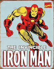 "Iron Man Distressed Retro Vintage Tin Sign 8"" x 12"" Art Poster BRAND NEW"