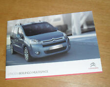 Citroen Berlingo Multispace Brochure 2009 - VT VTR XTR - 1.6 16v & 1.6 HDI