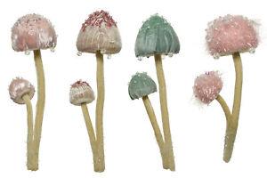 1 Fairy Forest Double Velvet Mushroom Hanging Christmas Decoration Display Prop