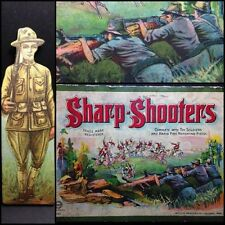 WW1 Era War Game Army Edition Litho Box + 9 Soldiers Sharp Shooters No Gun RARE
