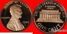 1984 S Lincoln Cent Deep Cameo Gem Proof No Reserve