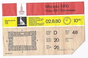 Authentic Soviet USSR Olympic Games Ticket 1980 Moscow Judo Sports 70% Off