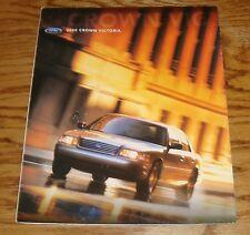 Original 2000 Ford Crown Victoria Foldout Sales Brochure Poster 00