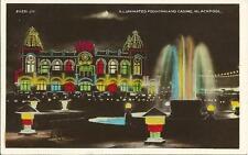 RP Postcard-Blackpool Illuminations-Illuminated Fountain &CASINO