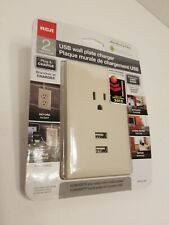 RCA Audiovox WP2UAR USB Wall Plate Charger, for iPod, iPhone, iPad, Phone (EL04)