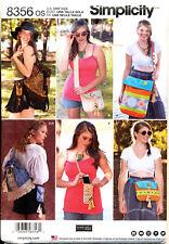 8146 Vintage Simplicity SEWING Pattern Bag Back Pack Leg Warmers Purse Tote OOP