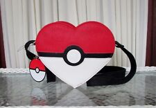 Loungefly Pokemon Heart Shaped Crossbody bag Purse PokeBall NWT