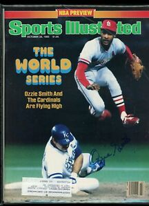 OZZIE SMITH ST. LOUIS CARDINALS SPORTS ILLUSTRATED signed autographed