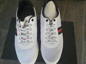Tommy Hilfiger BNIB Mens White Trainers Size UK 9 EU 43
