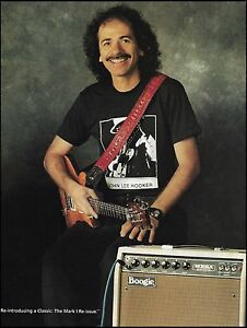 Carlos Santana 1990 Mesa Boogie Mark I amp advertisement 8 x 11 ad print