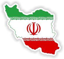 Sticker Silueta Irán Mapa Bandera Para Parachoques Guitarra Patineta Locker Tablet