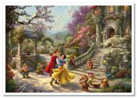 Thomas Kinkade DISNEY-  Snow White and the Seven Dwarfs cartoon postcard modern