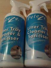 Peteze Cat Litter Cleanser and Sanitier Cat Litter Tray Small Animals 2 x 500ml