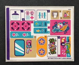 LEGO Sticker Sheet For Friends Set 41313 - Heartlake Summer Pool - Genuine
