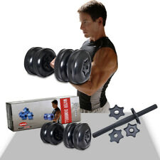 2 Adjustable Dumbbell Water-filled Barbell Weight Train Lifting GYM Fitness 25KG
