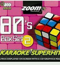 ZOOM KARAOKE CDG    80s  KARAOKE SUPERHITS  VOL 2    TRIPLE PACK BOX SET